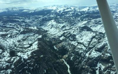 Spring Snow Filling Waterfalls